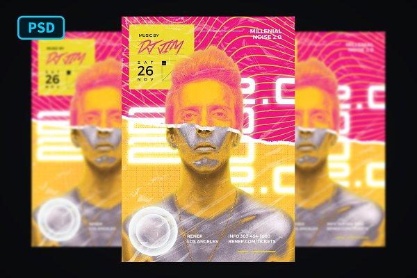 Millenial DJ Party Flyer