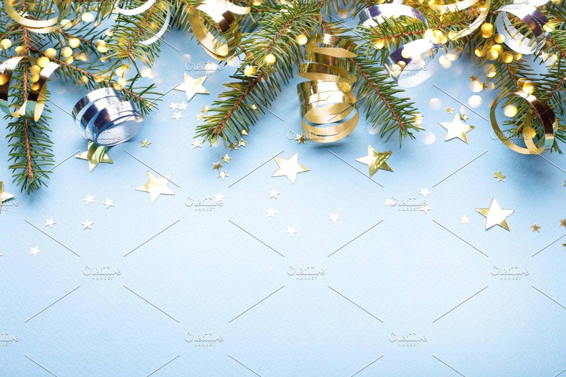 Christmas Frame.Christmas Frame With Fir Branches
