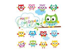 Cute Owl Vector Collection