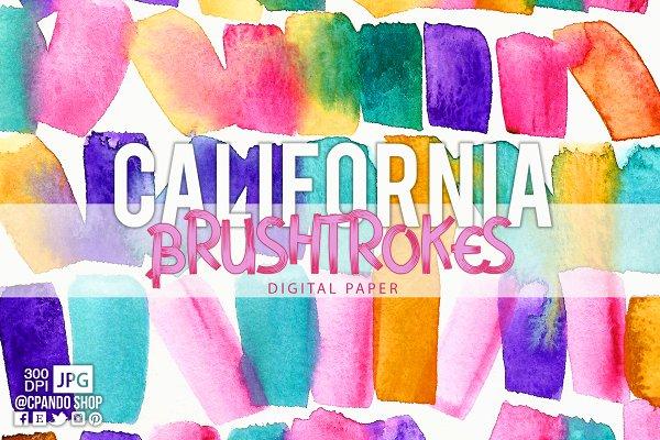 California Brushstrokes background