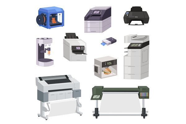 printer vector print machine pre designed vector graphics creative market printer vector print machine