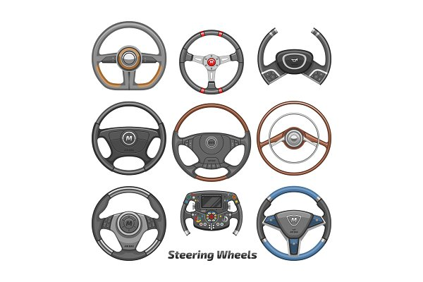 steering wheel vector car wheeling pre designed vector graphics creative market steering wheel vector car wheeling