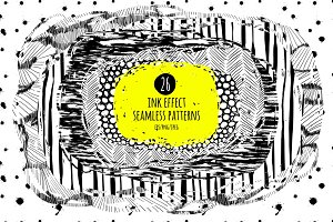 26 ink effect seamless patterns
