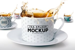 Tea Splash Mockup