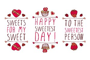 Sweetest Day typographical elements