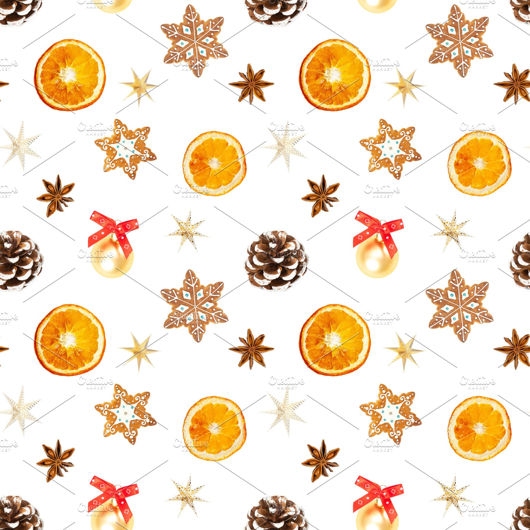 Christmas Pattern.Christmas Seamless Pattern Isolated