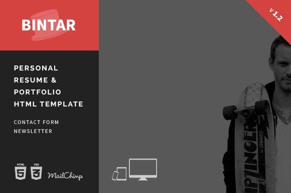 bintar resume portfolio template