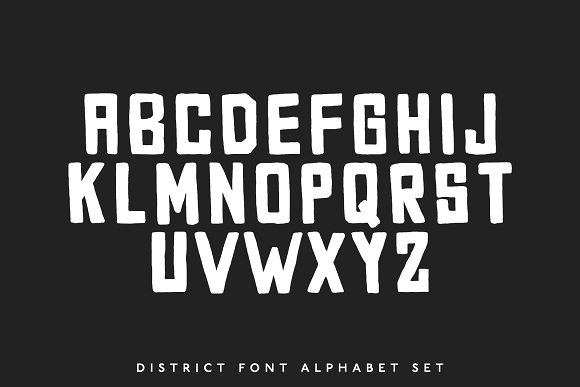 District Block — A Street Block Font in Block Fonts - product preview 1