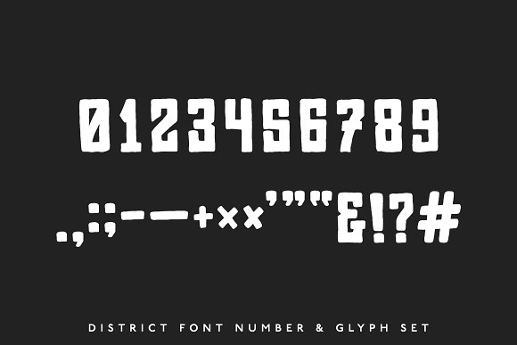 District Block — A Street Block Font in Block Fonts - product preview 2