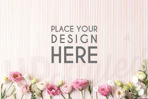 A111 Floral and Stripe Mock UP