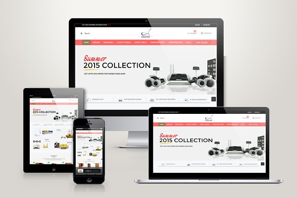 Magento Themes - Responsive Magento Furniture Theme