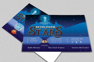 Christmas Concert Postcard Template