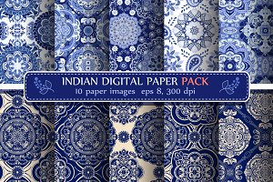 Set of Indian Seamless Patterns