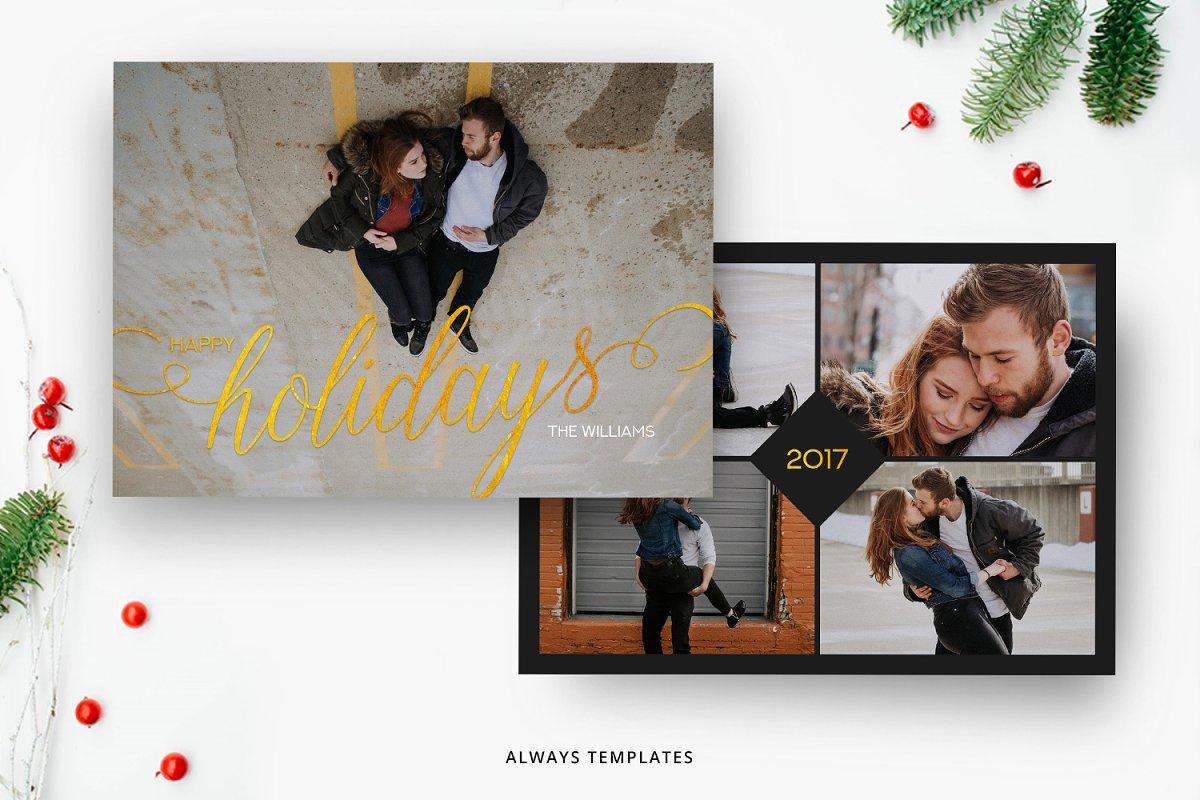 The Christmas Card.Christmas Card Template Cc009 Card Templates Creative Market