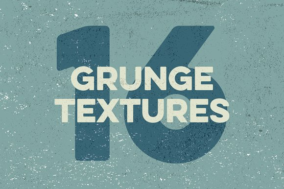 16 Grunge Textures-Graphicriver中文最全的素材分享平台