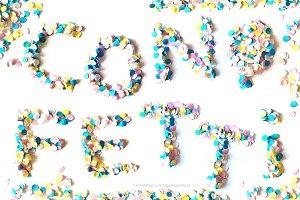 Confetti handmade letters