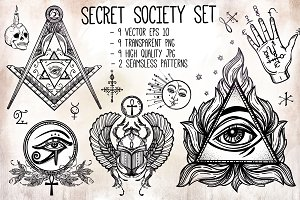 Secret Society Vintage Set