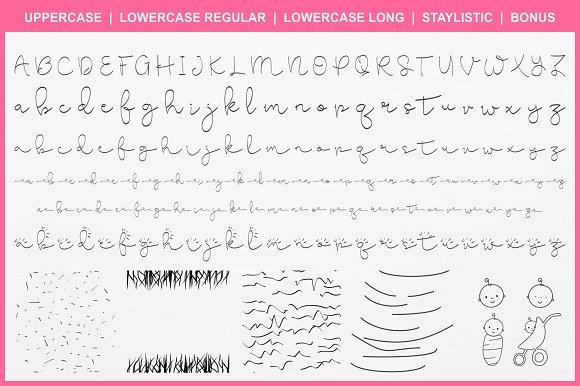 Cute Baby Script Fonts Creative Market