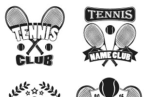 Tennis labels and badges set.Logos