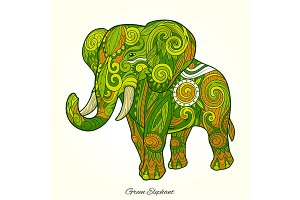 Elephant ornament artwork 02