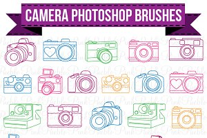 Camera Photoshop Brushes
