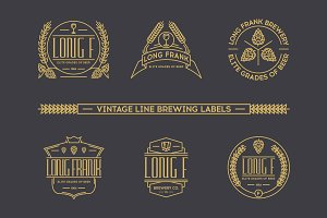 Vintage brewing labels.