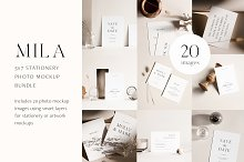 Mila 5x7 Stationery Photo Mockups