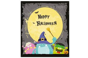 Halloween Monsters Card
