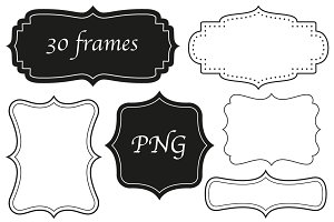 30 frames in four styles - PNG