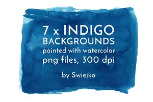 Indigo Watercolor Background