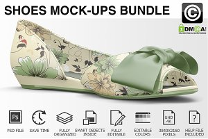 Woman Shoes Mockups Bundle