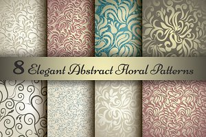 Set of 8 Floral elegant patterns
