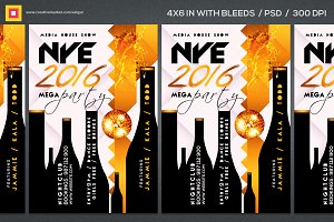 NEW YEAR Party Flyer Template PSD V3