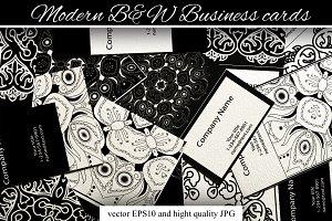 Modern B&W Business cards