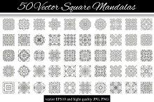 50 Vector Square Mandalas 1