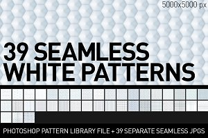 Clean Seamless White Patterns