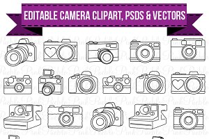 Camera Clipart, PSDs and Vectors
