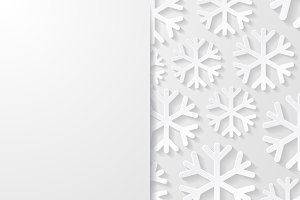 Abstract backgrounds with snowflakes