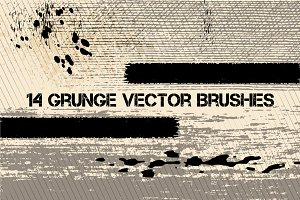 Grunge vector brushes