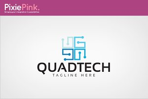 Quad Tech Logo Template
