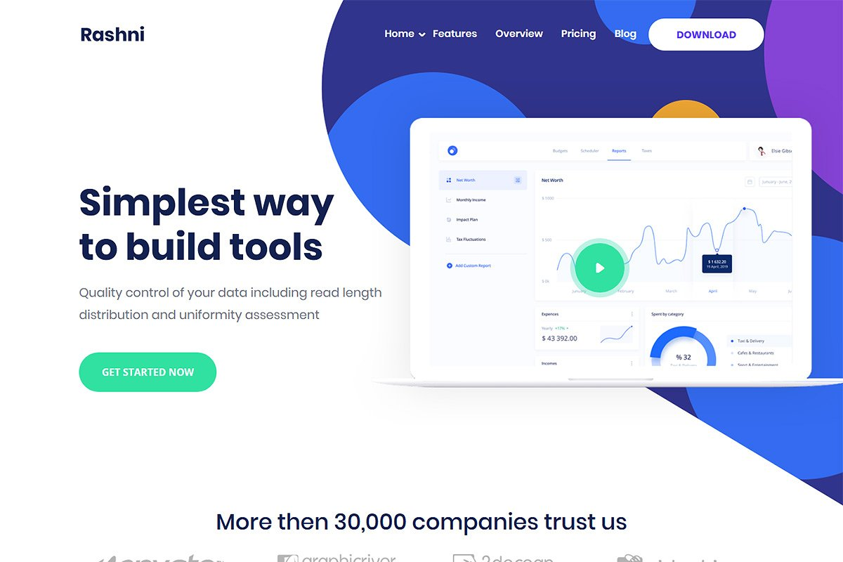 Rashni - App WordPress Theme
