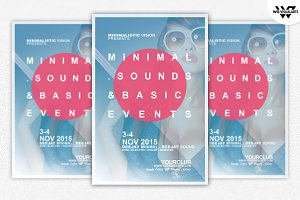 Minimal Fashion Sound Flyer Template
