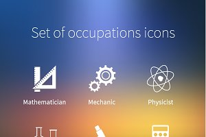Set of occupations icons
