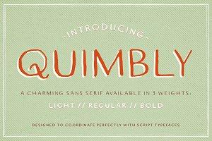 Quimbly Font Trio
