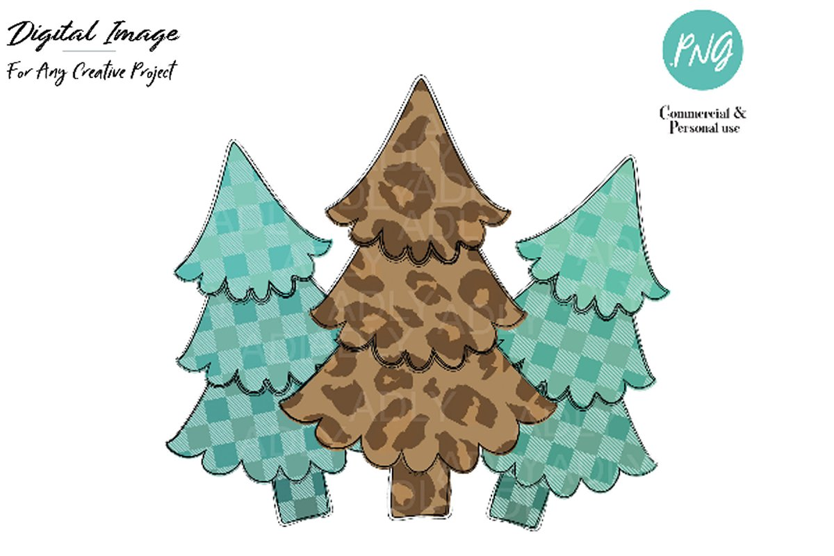Christmas Graphics Png.Christmas Tree Design Leopard Tree Illustrations