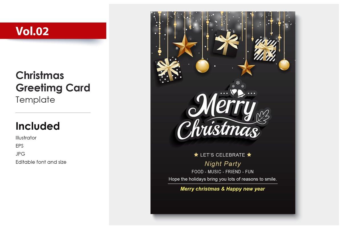 Merry Christmas Invitations Card Invitation Templates