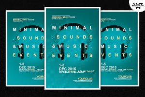 Minimal Sounds Flyer Template