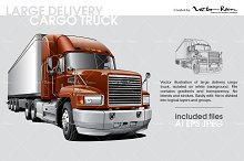 Large Delivery Cargo Truck