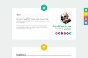 Polystring - Creative One-Page PSD