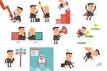 Businessman concept collection